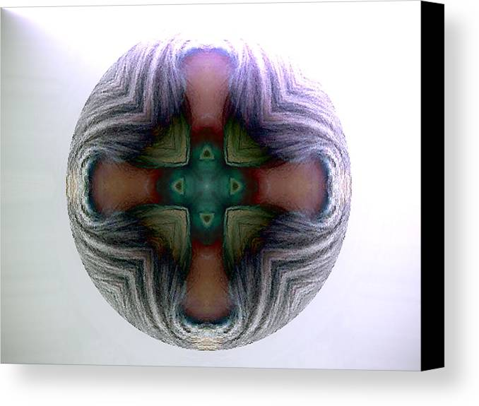 Sphere Canvas Print featuring the digital art Spheres by Raynard Cantwell