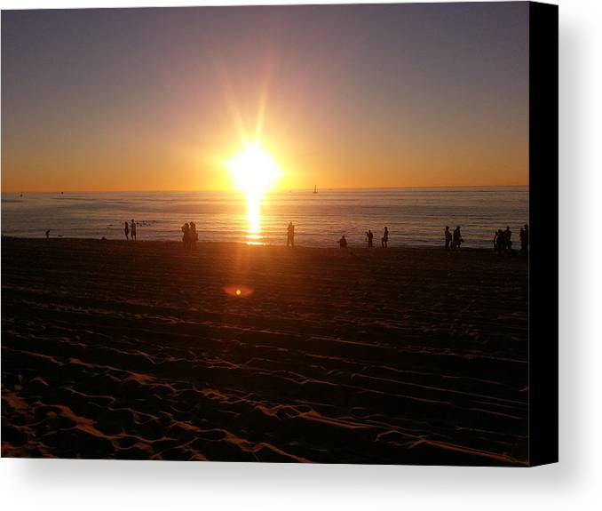 Sunset Canvas Print featuring the photograph Sunset by Hitomi Y