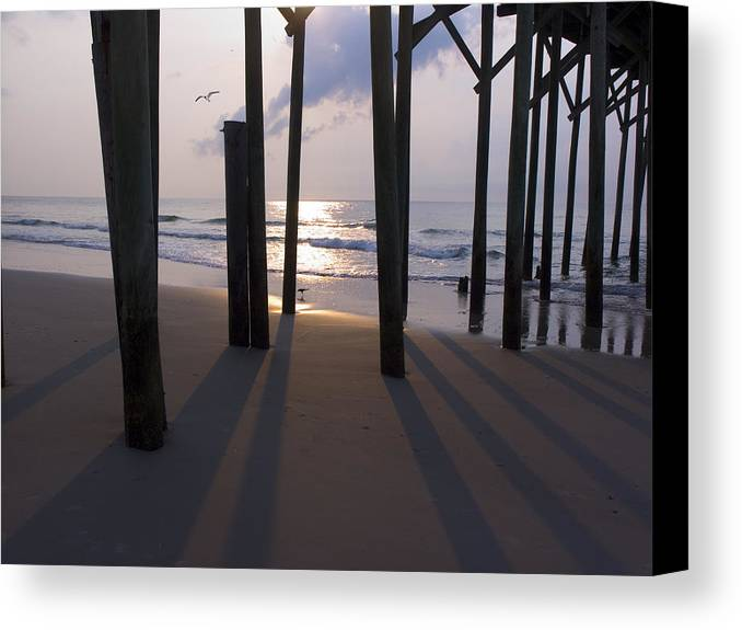 Pier Canvas Print featuring the photograph Under Pier by Paul Boroznoff