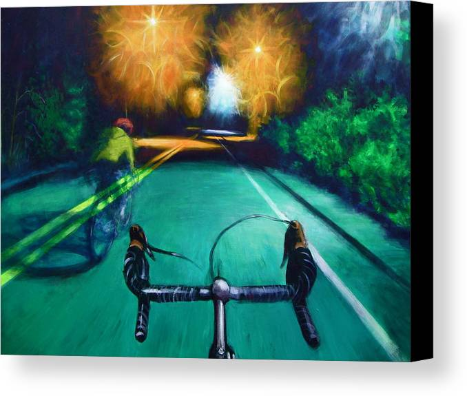 Bicycle Canvas Print featuring the painting Untitled by Chris Slaymaker