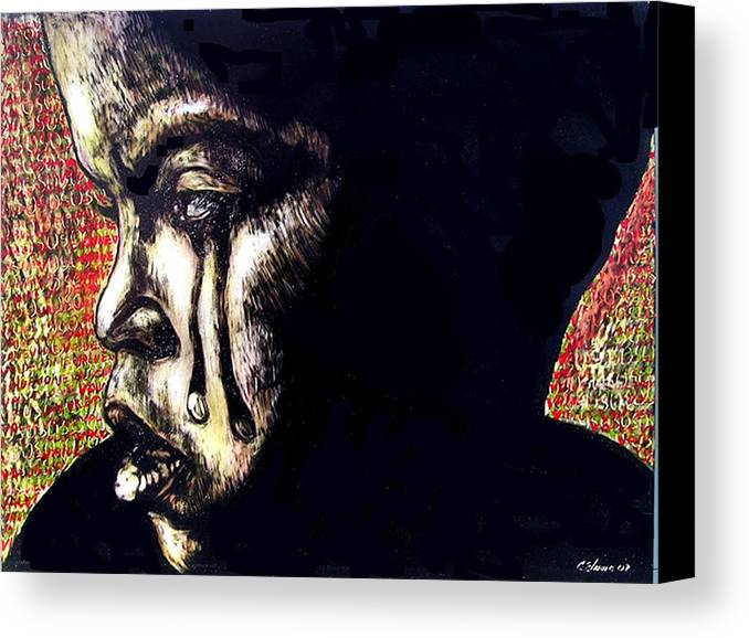 Canvas Print featuring the mixed media 1140 by Chester Elmore