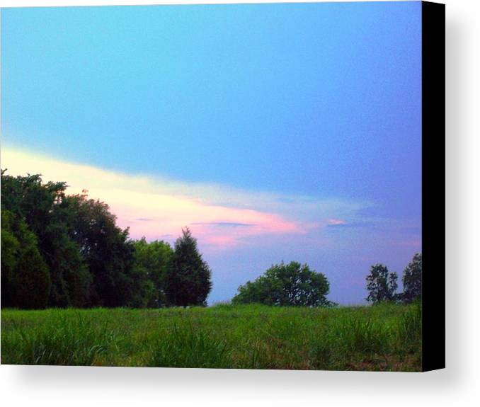 Landscape Canvas Print featuring the print Untitled by Beverly Baxter