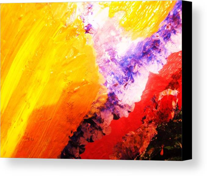 Art Canvas Print featuring the painting WOW by HollyWood Creation By linda zanini