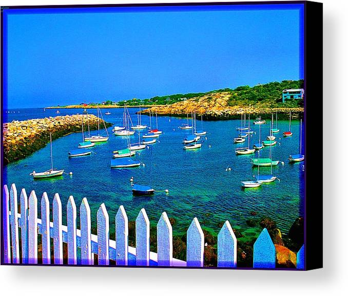Seascape Canvas Print featuring the photograph 2381 Rock Harbor by Ed Immar