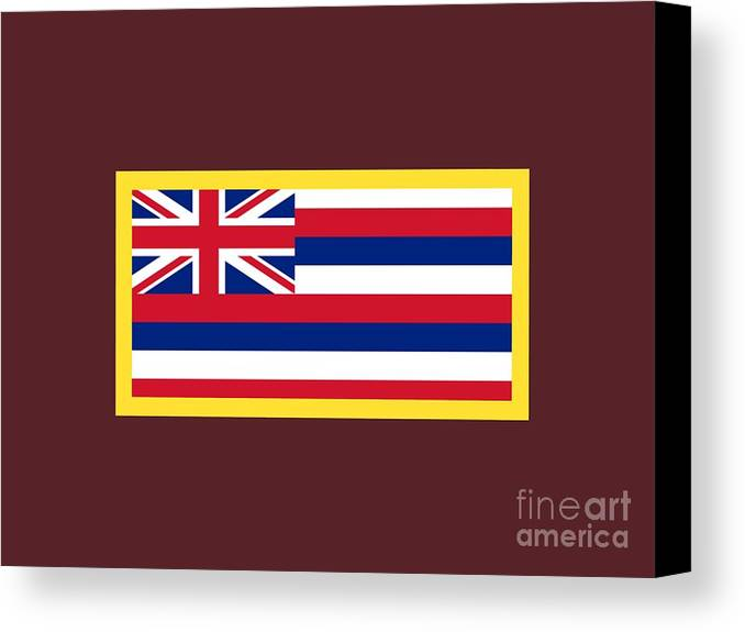 Flag Canvas Print featuring the digital art Hawaii Flag by Frederick Holiday