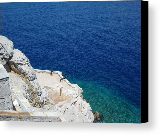 Canvas Print featuring the photograph Hydra Island by Helen Tomprou