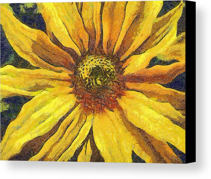 Odon Canvas Print featuring the painting The Flower by Odon Czintos