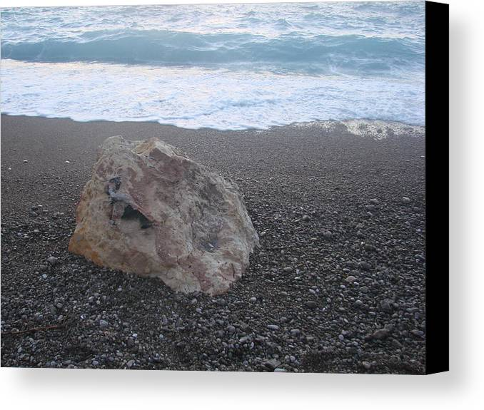 Canvas Print featuring the photograph Loutraki by Helen Tomprou