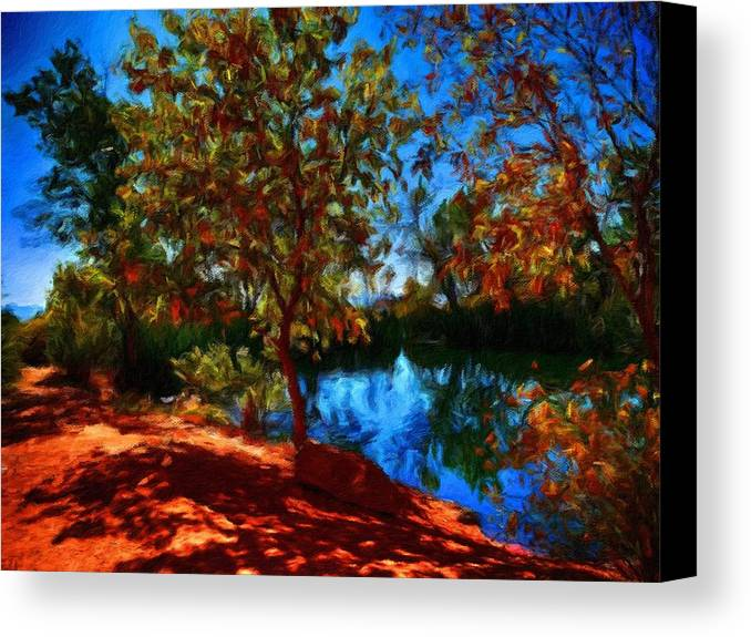 Country Canvas Print featuring the digital art Landscape Paintings Canvas Prints by Usa Map