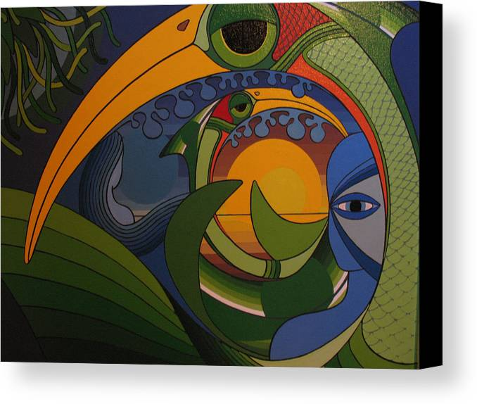 Dreams Canvas Print featuring the painting My World by Francesco Venier