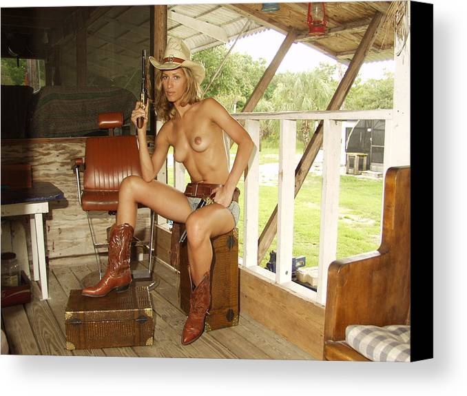 Lucky Cole Everglades Photographer Canvas Print featuring the photograph Everglades Cowgirl by Lucky Cole