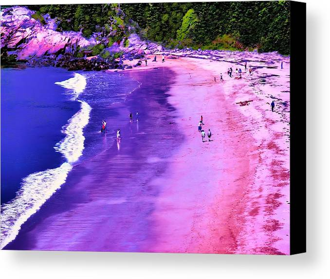 Seascape Canvas Print featuring the photograph 74f Bright Beach by Ed Immar