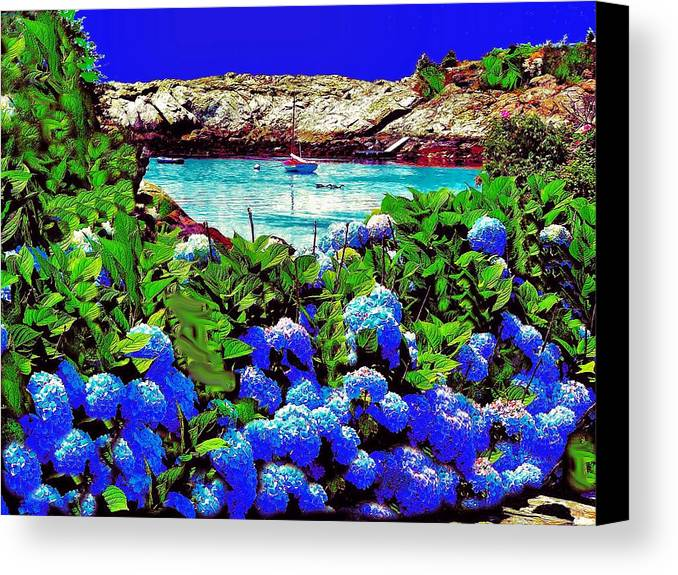 Landscape Canvas Print featuring the photograph 75h Ocean Flowers by Ed Immar