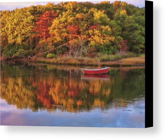 Autumn Canvas Print featuring the photograph Autumn Reflection by JAMART Photography