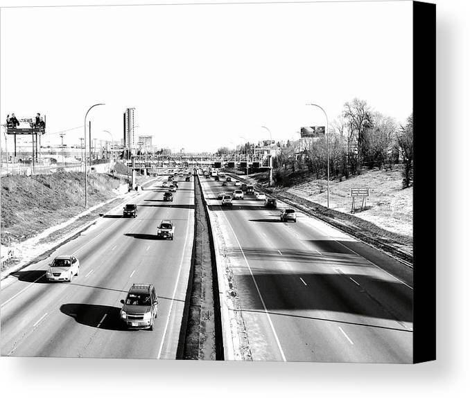 Freeways Canvas Print featuring the photograph 94 by Julian Grant