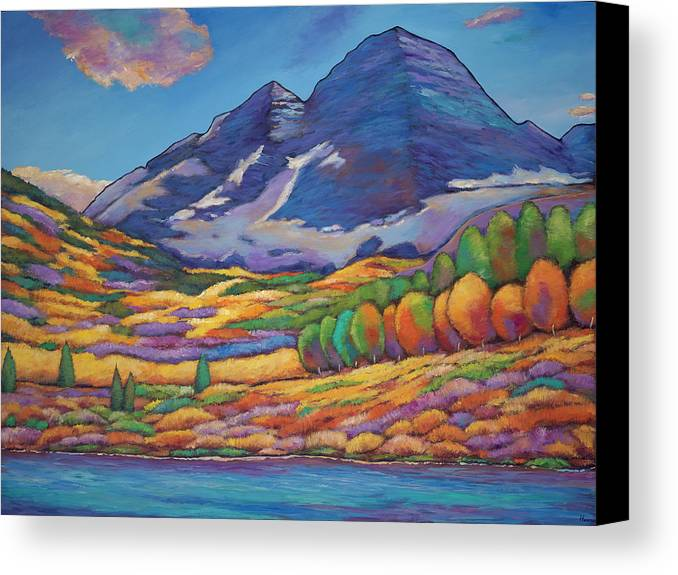 Aspen Tree Landscape Canvas Print featuring the painting A Day In The Aspens by Johnathan Harris