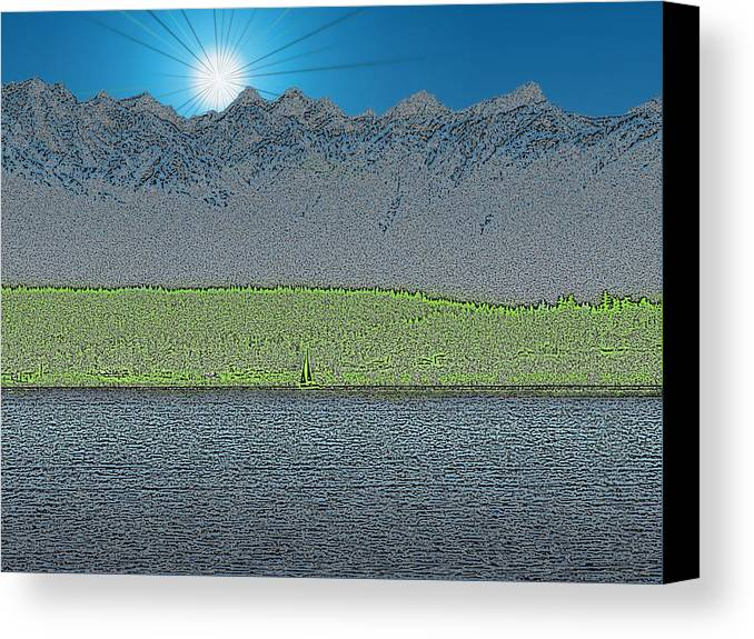 Sailboat Canvas Print featuring the digital art A Perfect Ending by Tim Allen