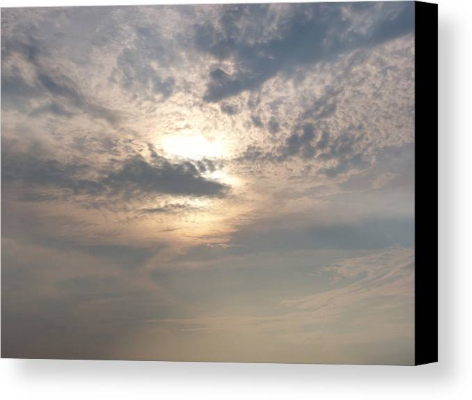Jmw Turner Canvas Print featuring the photograph A Turner Sky Over Assawoman Bay by Kevin Callahan