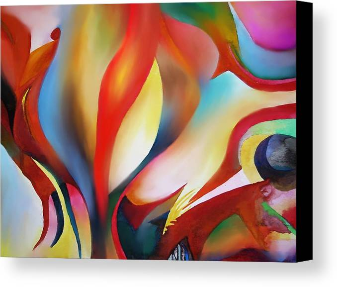 Angels Canvas Print featuring the painting Abstract Beings by Peter Shor