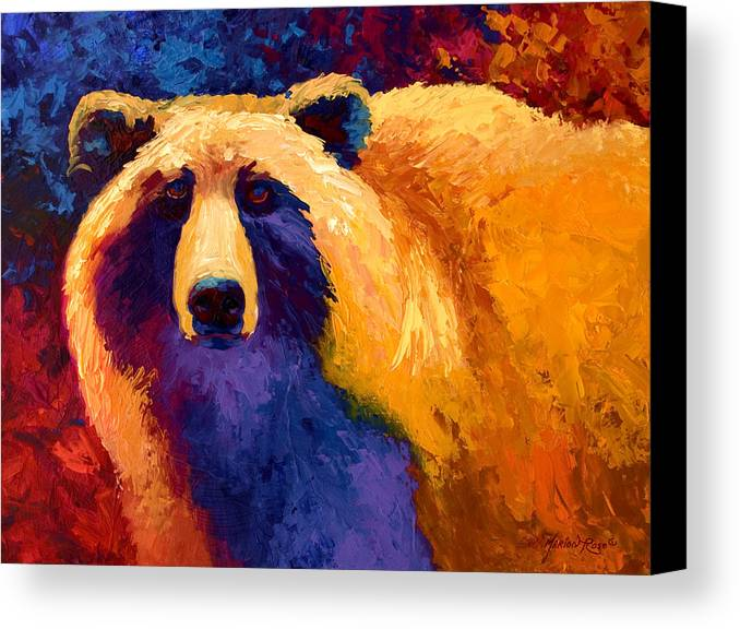 Western Canvas Print featuring the painting Abstract Grizz II by Marion Rose