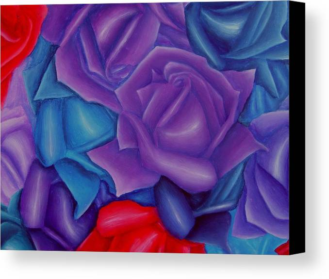 Flower Canvas Print featuring the painting Abundance by Brandon Sharp