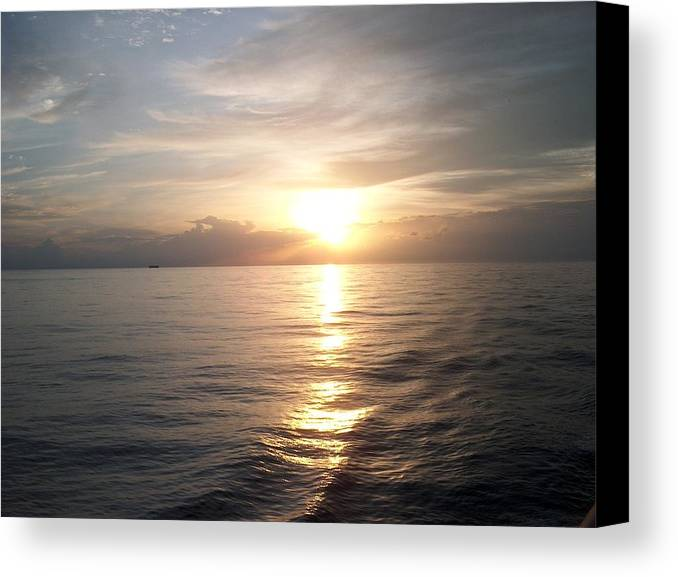 Sunset Canvas Print featuring the photograph Acapulco Sunset by Janet Hall