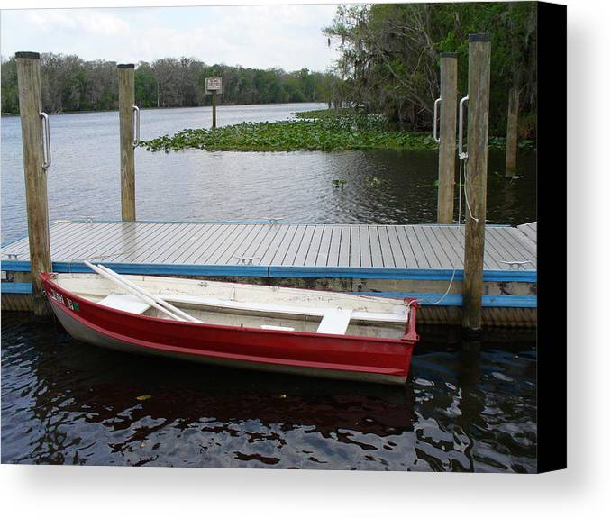 Water Canvas Print featuring the photograph Afloat by Stephanie Richards
