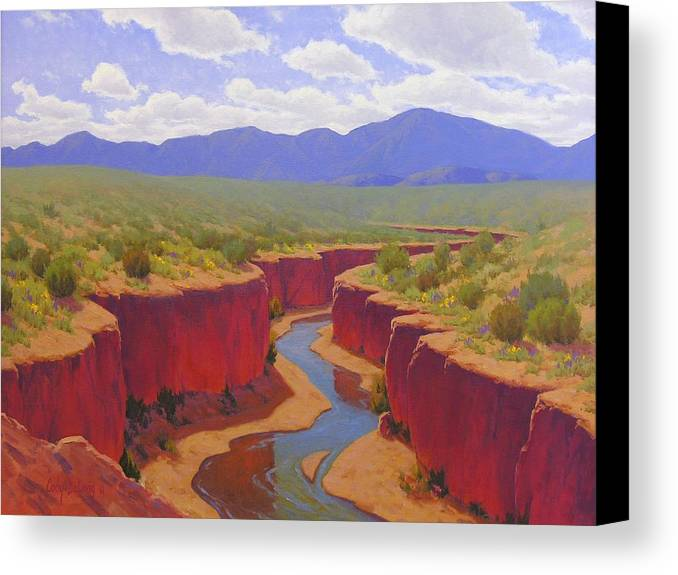 Cody Delong Canvas Print featuring the painting After The Rain by Cody DeLong