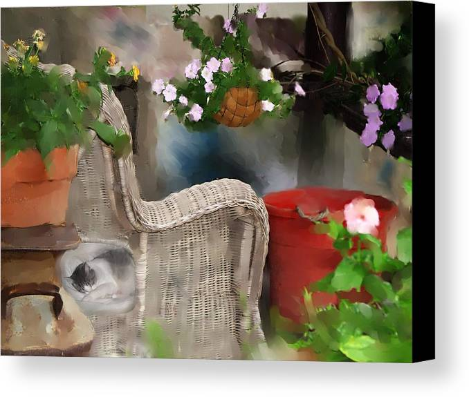 Stillife Canvas Print featuring the photograph Afternoon Nap by Ken Barker