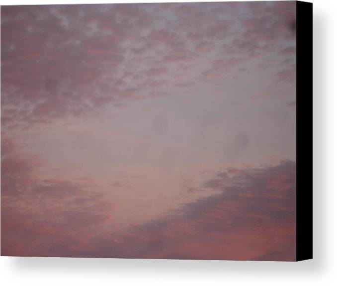 Skyscape Canvas Print featuring the painting Afternoon Sky by Roger Cummiskey