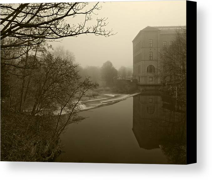 River.mill Canvas Print featuring the photograph Aire 3 by Steve Watson
