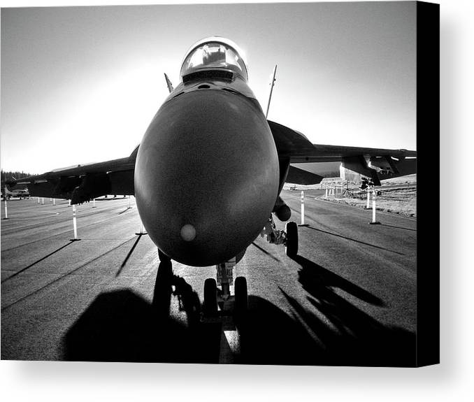 Airplane Canvas Print featuring the photograph Alien Aircraft by Neil Pankler