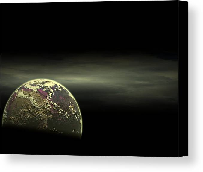 Surreal Canvas Print featuring the digital art Alien Luna by Juana Maria Garcia-Domenech