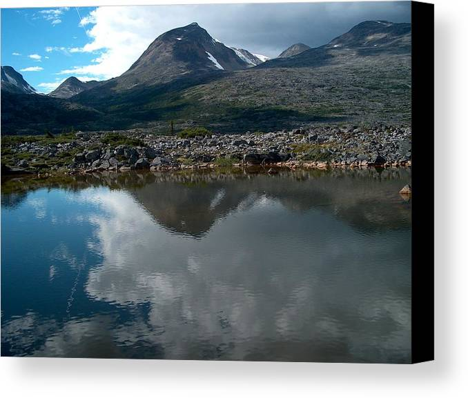 Whitehorse Canvas Print featuring the photograph Along The Whitehorse Trail by Janet Hall