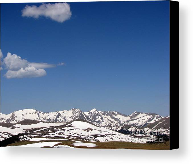 Mountains Canvas Print featuring the photograph Alpine Tundra Series by Amanda Barcon