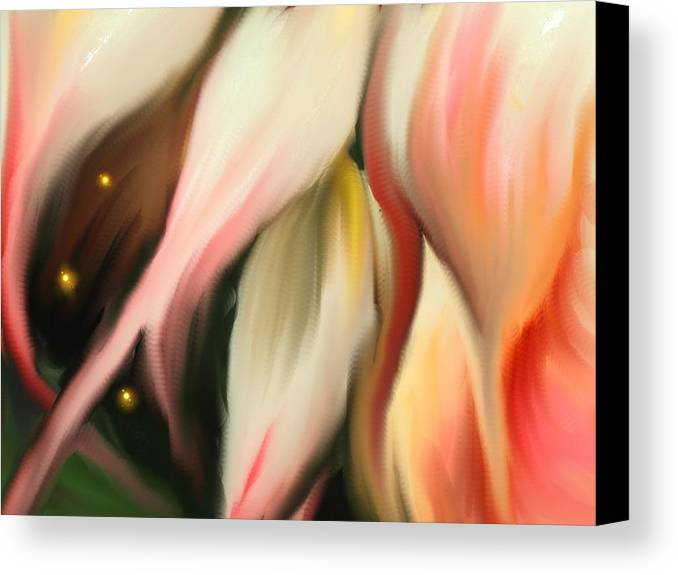 Abstract Canvas Print featuring the digital art Alternative Dimension by Ian MacDonald