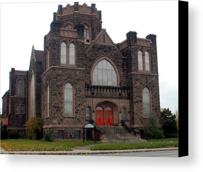 Churches Canvas Print featuring the photograph Amazing Abandoned Architecture by Dawn Williams