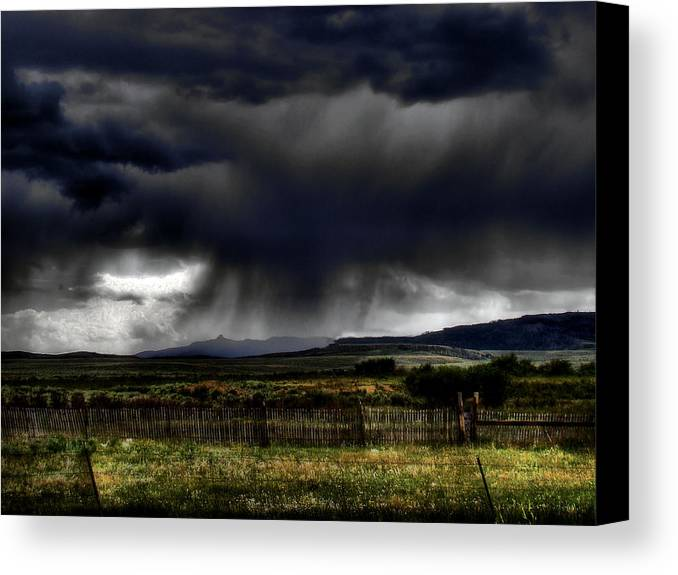 Landscape Canvas Print featuring the photograph Apocalyptic by Tingy Wende