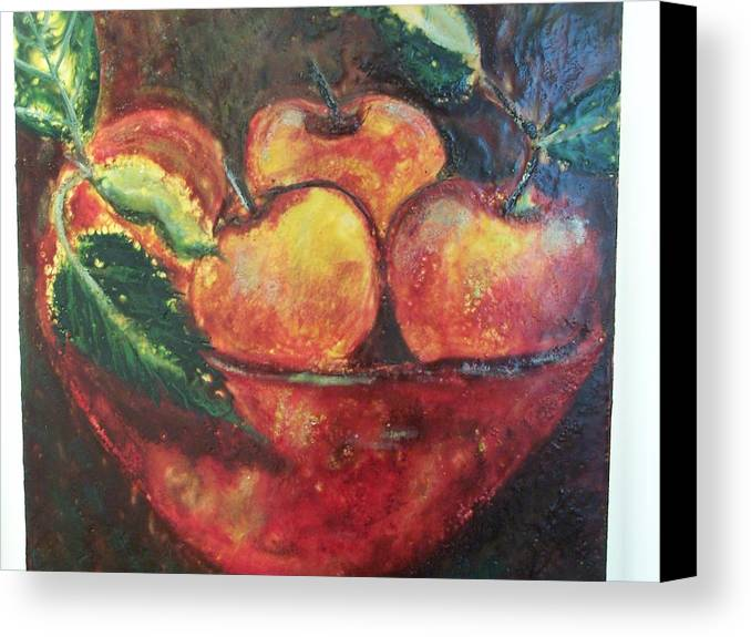 Still Life Canvas Print featuring the painting Apples by Karla Phlypo-Price