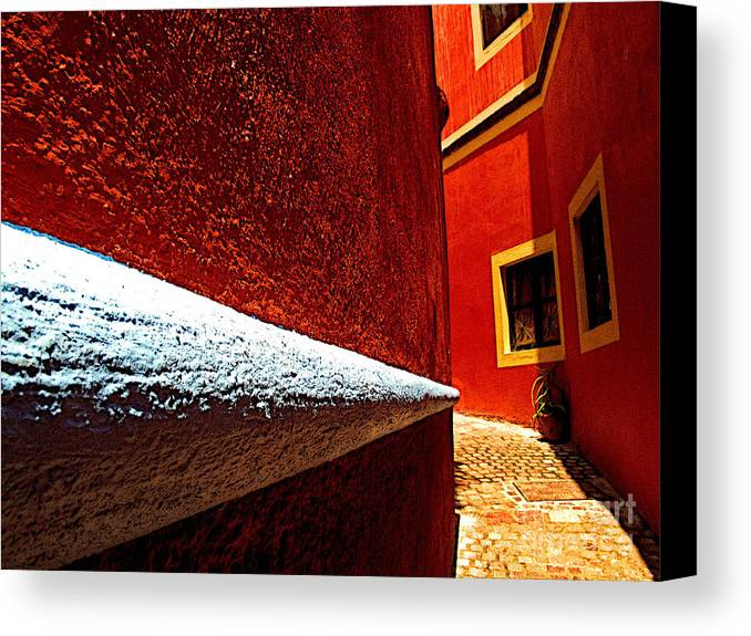 Darian Day Canvas Print featuring the photograph Around The Corner by Mexicolors Art Photography