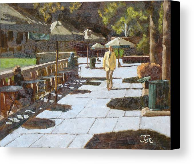 Painting Canvas Print featuring the painting Autumn In Bryant Park by Tate Hamilton