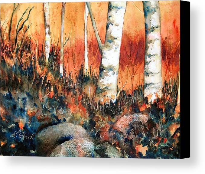 Landscape Canvas Print featuring the painting Autumn by Karen Stark