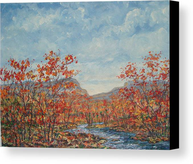 Paintings Canvas Print featuring the painting Autumn View. by Leonard Holland