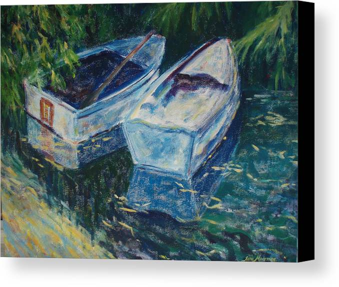Monets Gardens Canvas Print featuring the painting Awaiting by Tara Moorman