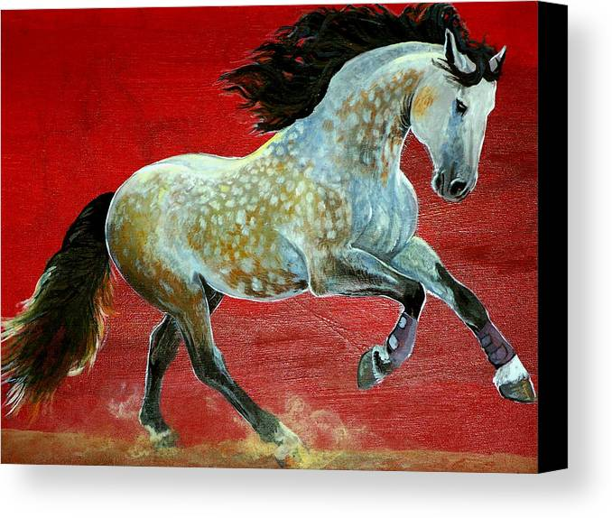 Horse Canvas Print featuring the painting Awesome Brioso by Jenn Cunningham