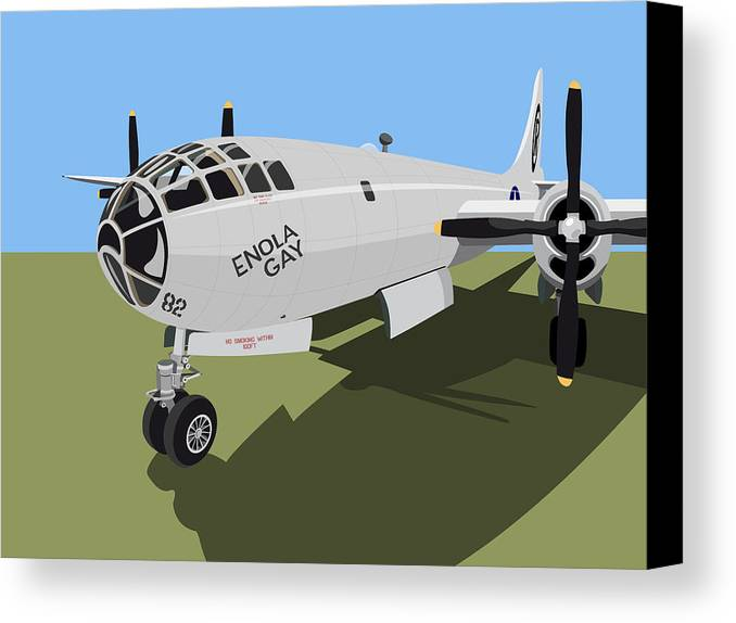 B29 Canvas Print featuring the digital art B29 Superfortress by Michael Tompsett