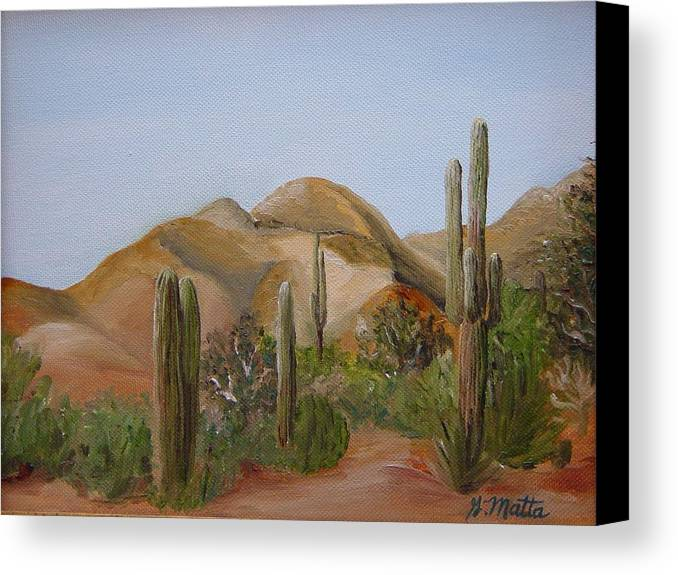 Landscape Canvas Print featuring the painting Backdoor View by Gretchen Matta