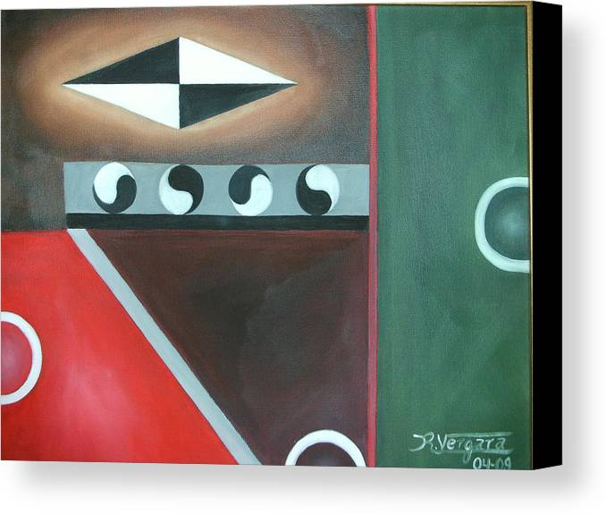 Balance Canvas Print featuring the painting Balance I by Raul Vergara