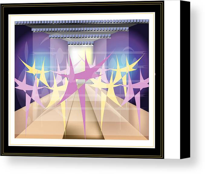 Dance Canvas Print featuring the digital art Ballet by George Pasini