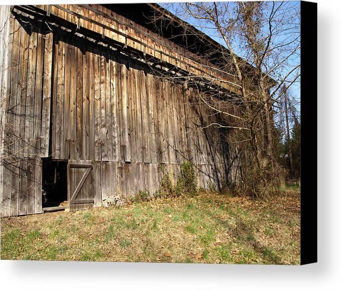 Barn Canvas Print featuring the photograph Barn Door by Kim